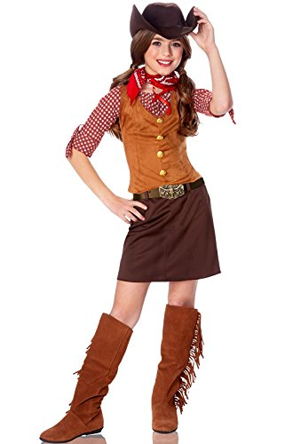 Kids Western Cowgirl Outfit Girls Halloween Costume L Girls Large (12-14)]()