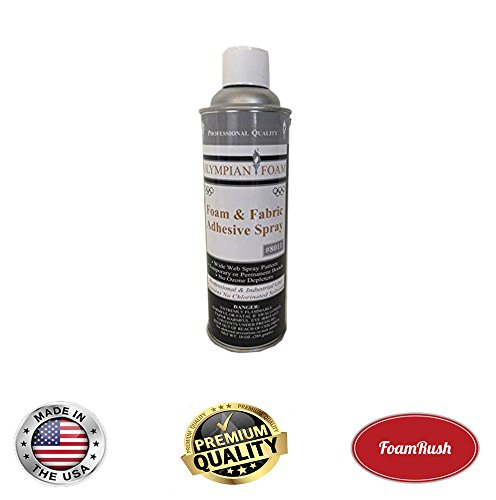 Professional Quality General Multipurpose Spray Adhesive, 10-Ounce for Acoustic Panels & Craft Upholstery Foam Adhesive & Fabric Glue by FoamRush
