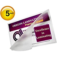 5 Mil Credit Card Laminating Pouches 2-1/8 x 3-3/8 (500/bx)