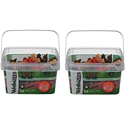 Whimzees Small Variety Dog Treats Container (2-Pack)