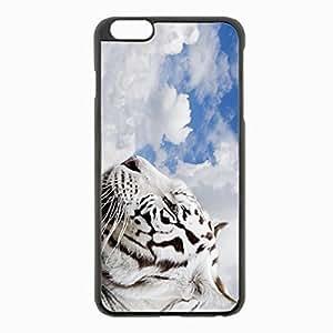 iPhone 6 Plus Black Hardshell Case 5.5inch - tiger sky predator Desin Images Protector Back Cover