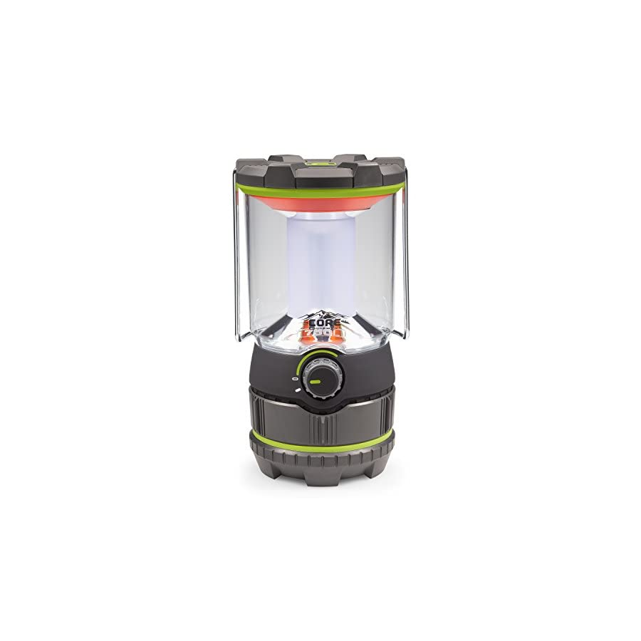 CORE 750 Lumen CREE LED Battery Lantern, Three Modes, Water Resistant, Camping, Emergency Backyard Use