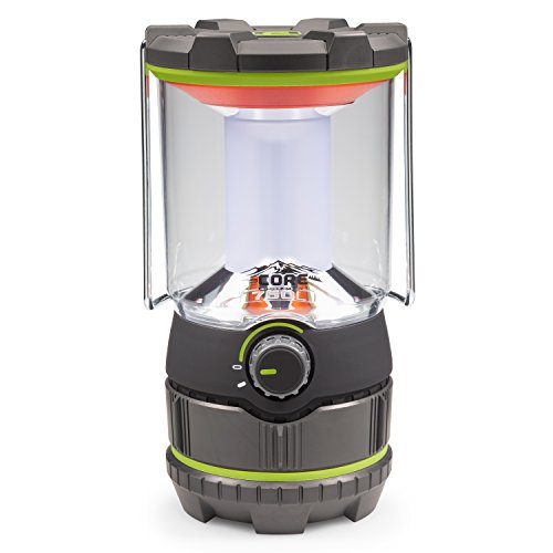 CORE 750 Lumen CREE LED Battery Lantern, Three Modes, Water Resistant, Camping, Emergency Backyard Use by CORE