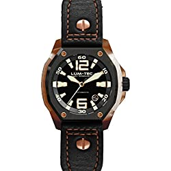 Lum-Tec V Series V6 Luminous black and rose gold automatic men's watch