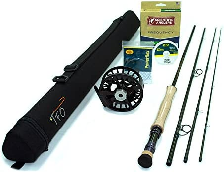 TFO BVK Fly Rod Outfit 8wt, 9 0 , 4pc w Lamson Remix Fly Reel