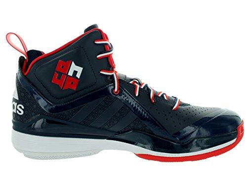 Adidas Man D Howard 5 Basket Sko Kollegialt Marin / Ljus Scharlakansröd / Springer Vit