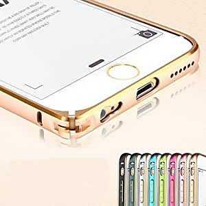 Twin Color Metal Aluminum Bumper Frame Case with Hippocampal Buckle for iPhone 6 (Assorted Colors) , Light Blue