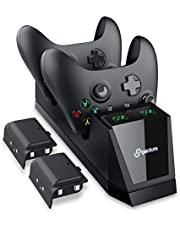 Xbox One Controller Charger, Peoture Xbox Controller Fast Charging Station for Xbox One/One X/One S/One Elite, Xbox One Charger with 2 x 1200mAh Rechargeable Battery Packs
