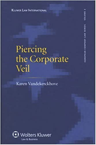 Piercing The Corporate Veil European Company Law By Karen