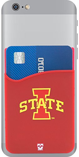 Team Wallet (Iowa State Cyclones Adhesive Silicone Cell Phone Wallet/Card Holder for iPhone, Android, Samsung Galaxy, & most Smartphones)