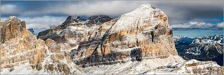 Posterlounge Alu Dibond 60 x 20 cm: Tofane - Dolomites di Mikolaj Gospodarek