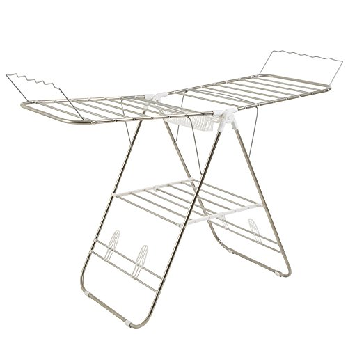 Heavy Duty Laundry Drying Rack- Stainless Steel Clothing Shelf for Indoor and Outdoor Use Best Used for Shirts Pants Towels Shoes by Everyday Home by Everyday Home (Image #2)
