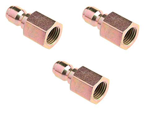 Forney 75135 Pressure Washer Accessories, Quick Coupler Plug, 1/4-Inch Female NPT, 5,500 PSI (3)