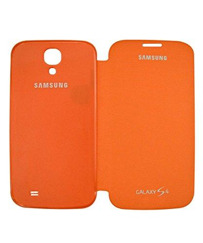 COVERNEW Flip Cover for Samsung I9500 Galaxy S4   Orange FlipGalaxyI9500S4Orange