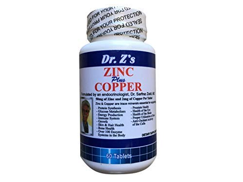 Dr. Z's - Zinc Plus Copper - Energy Support, Immune Support, Metabolism Support - 60 Count