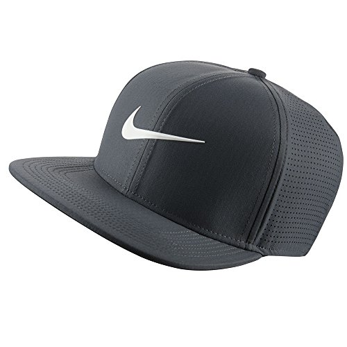 897f0a075 NIKE Unisex Aerobill Pro Performance Golf Cap, Dark Grey/Anthracite/White,  One Size