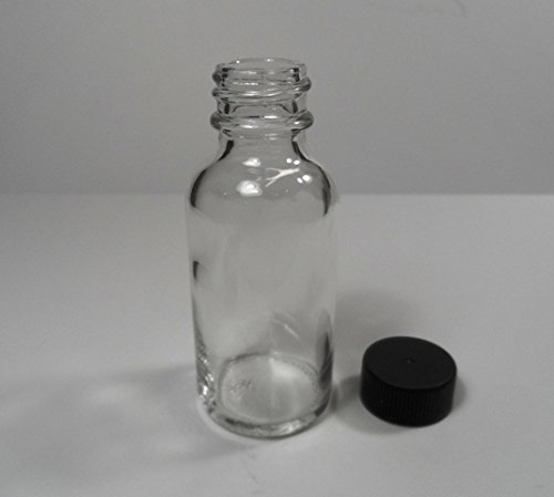 12 Pack Brand New GLASS Boston Round 1 Ounce Bottles w/Caps-Heavyweight-Essential Oils, Travel, Medicine