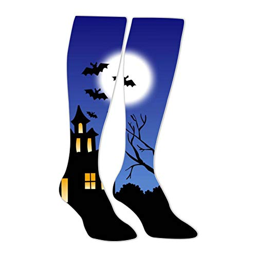 Knee High Stockings Halloween Night Long Socks Sports Athletic for Man and Women