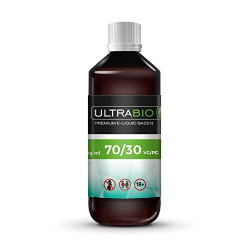 Ultrabio® e Liquid Basis 1000 ml ohne Nikotin Base 70% VG / 30% PG