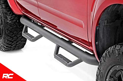 (Rough Country Nerf Bar Drop Steps Compatible w/ 2005-2018 Nissan Frontier Crew Cab Truck Side Steps 82001)