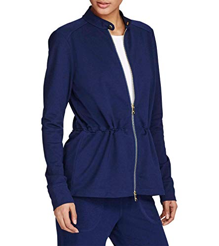 (Lauren Ralph Lauren Women's Full-Zip Jacket Navy Medium)
