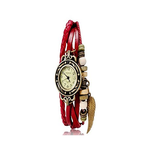 fuzzygreen-red-color-fashion-design-rope-wave-leather-bracelet-vintage-wrist-watch