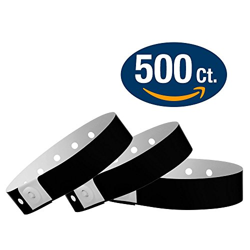 Black Wristco Plastic Wristbands 500 product image