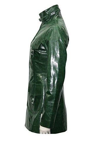 Masquer Cuisse Les Longueur Tailles Leather La Toutes Real Jacket Ont Vert Glaze Adapté Dames wXxCFRZq8