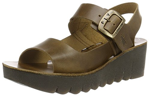 Brindle Yail907fly Wedge Sandal London Camel Fly Women's 1qO76n