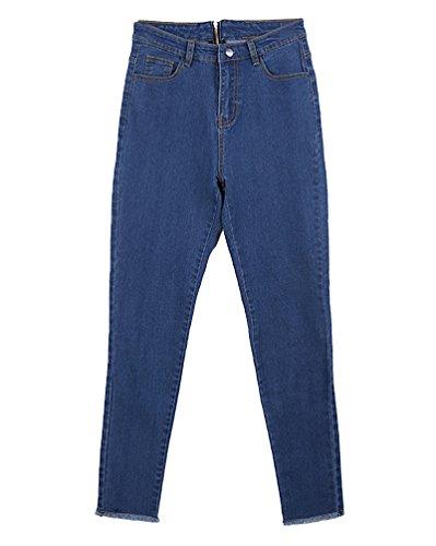 tait Bleu Fit Mince Loisir Slim Pantalon Crayon Personnalit Slim Fonc Femmes Tapered Jeans Yiiquan AOqIPY