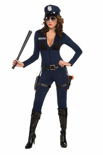 [Forum Traffic Stopping Cop Costume, Blue, Large/Medium] (Costumes For Women Cop)