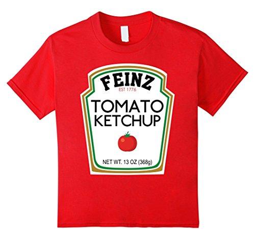 Costumes For Four Halloween Friends (Kids Ketchup Matching Best Friend Halloween Costume T-Shirt 4)
