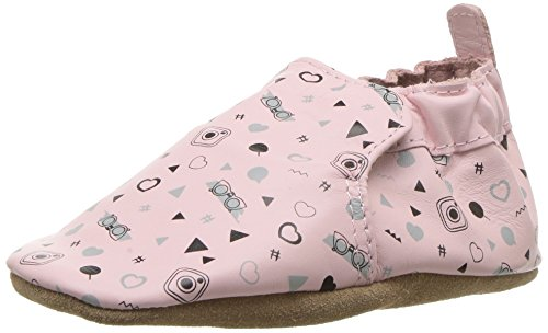 Robeez Soft Soles Crib Shoe, Girly Girl - Potpourri, 0-6 Months M US Infant ()
