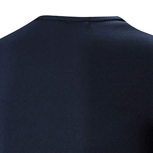 PASATO Men Summer Round Neck Tee Printing Men's Short-sleeved T-shirt Top Blouse(Navy,XXL=US:XL) by PASATO Blouse For Men (Image #3)
