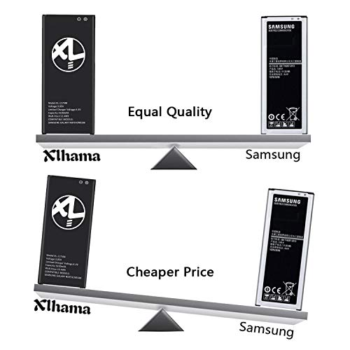 XLHAMA 3220mAh Replacement Battery Compatible With Samsung Galaxy Note 4,  Model SM-N910F|SM-N9100|SM-N910U|SM-N910C|SM-N910H|SM-N910A