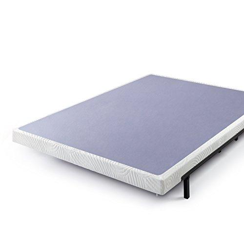 zinus 4 inch low profile metal smart box spring mattress foundation wood slat support easy. Black Bedroom Furniture Sets. Home Design Ideas