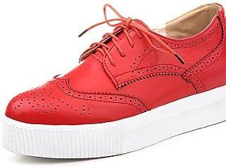 NJX/ hug Chaussures Femme-Extérieure-Noir / Rouge / Blanc / Amande-Talon Compensé-Compensées / Bout Pointu / Bottes à la Mode-Baskets à la Mode- almond-us5 / eu35 / uk3 / cn34 MKJMK