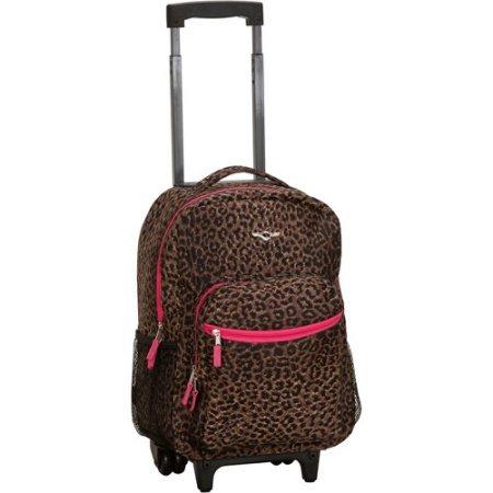 rockland-luggage-17-rolling-backpackpink-leopard