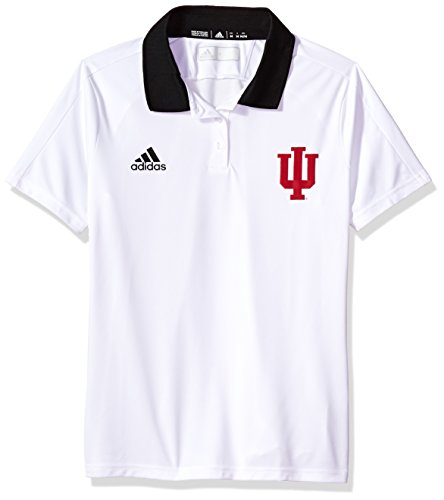 adidas NCAA Indiana Hoosiers Adult Women NCAA Sideline Women's Polo, X-Large, White (Adidas Polo Shirt Sideline)