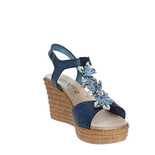 IZ98801 002 Femme VL Bleu Soft Sandale Cinzia 5qPWzR7wBf