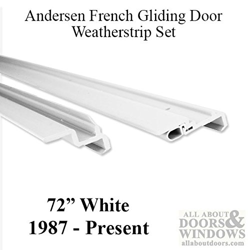 Andersen Window Frenchwood Gliding Doors Complete Weatherstrip Set, 6 ft 8 in - 1990-Present, White