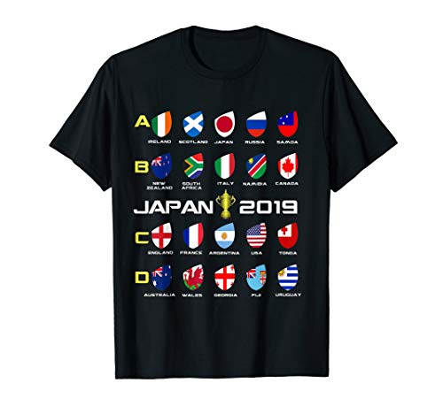 - america Rugby Flag T-Shirt japan 2019 World Tournament Gift