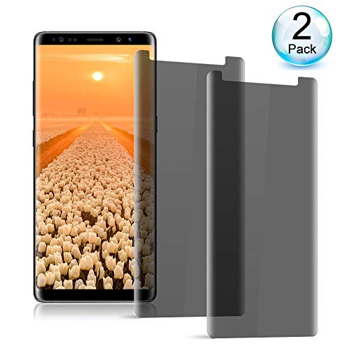 axy Note 8 Privacy Tempered Glass Screen Protector Loopilops[Anti Privacy][Case-Friendly][9H Hardness][No Bubble][Anti Peeping] Compatible wiht Samsung Galaxy Note 8 ()