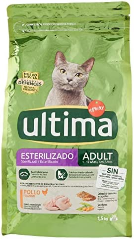 Ultima Pienso para Gatos Esterilizados Adultos con Pollo - 1.5 kg: Amazon.es: Productos para mascotas