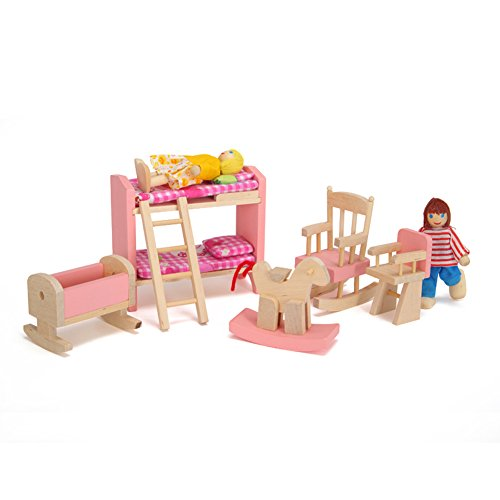 toys, games, dolls, accessories, doll accessories,  furniture 10 image Vktech Wooden Dollhouse Funiture Kids Child Room Set promotion