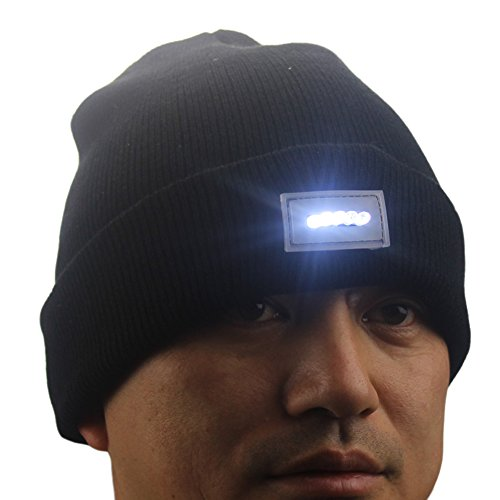 Ski Hat With Led Light in US - 9