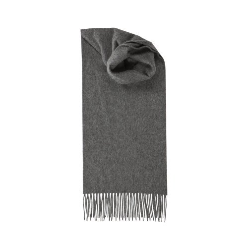 Johnstons Of Elgin Women's Pure Cashmere Plain Scarf Mid Grey One Size by Johnstons of Elgin