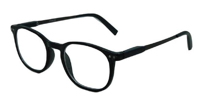 84e6fede1a59 Amazon.com: Stylish Classic Look Spring Hinged Reading Glasses -1.00 -  Black: Clothing