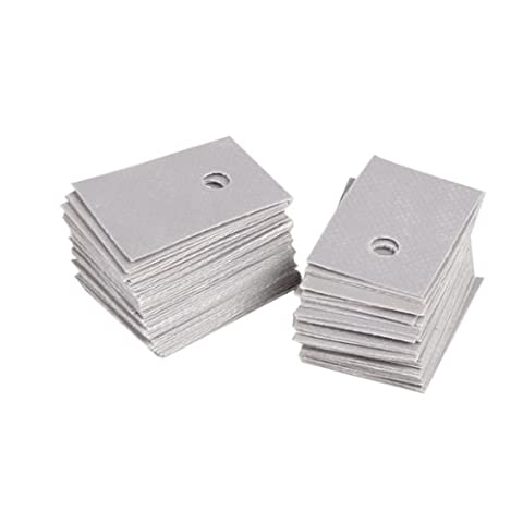 100Pcs TO-220 Insulation Pads Silicone Heatsink Shim for Laptop GPU CPU (Silicon Thermal Pad)