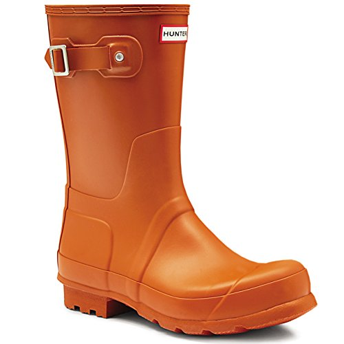 Hunter Mens Original Short Winter Wellingtons Snow Waterproof Rain Boots - Iron Oxide - 7-39